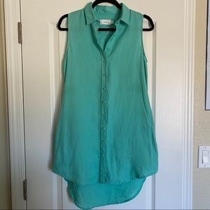 Onia button down cover up